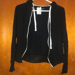 Aeropostale thin black jacket with white accents
